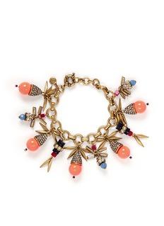 J. CREWCrystal embellish art deco charm bracelet
