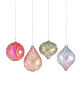 Main View - Click To Enlarge - Kurt S Adler - Assorted Colourful Drop Christmas Ornament Set