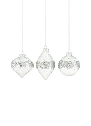 Main View - Click To Enlarge - Kurt S Adler - Crystal Embellished Glass Christmas Ornament Set