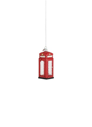 Main View - Click To Enlarge - Kurt S Adler - British Phone booth Hanging Christmas Ornament