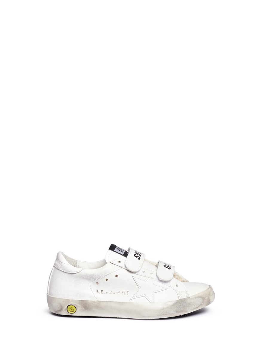 LC-503053645-KID – SUPERSTAR VELCRO SNEAKER IN LTH by Golden Goose