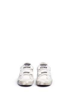 Golden Goose 'Old School' distressed leather kids sneakers