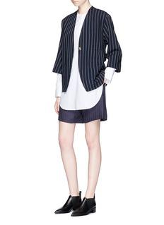 Acne Studios'Jada' stripe sash belt wool twill jacket