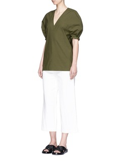 FFIXXED STUDIOS'Ching Extension' cotton V-neck top