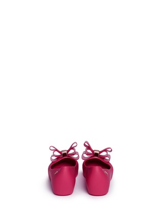 Back View - Click To Enlarge - Melissa - 'Ultragirl Sweet II' bow kids flats