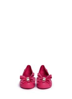 MELISSAUltragirl Sweet II儿童款双层蝴蝶结果冻平底鞋