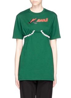 Ground Zero'Kawaii' smocked lace trim T-shirt