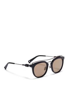 HazeZeal' wire top bar acetate sunglasses