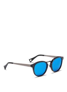 HazeEdge' marble effect mirror sunglasses