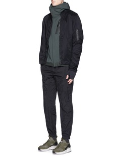 Satisfy Ruched seam performance bomber jacket