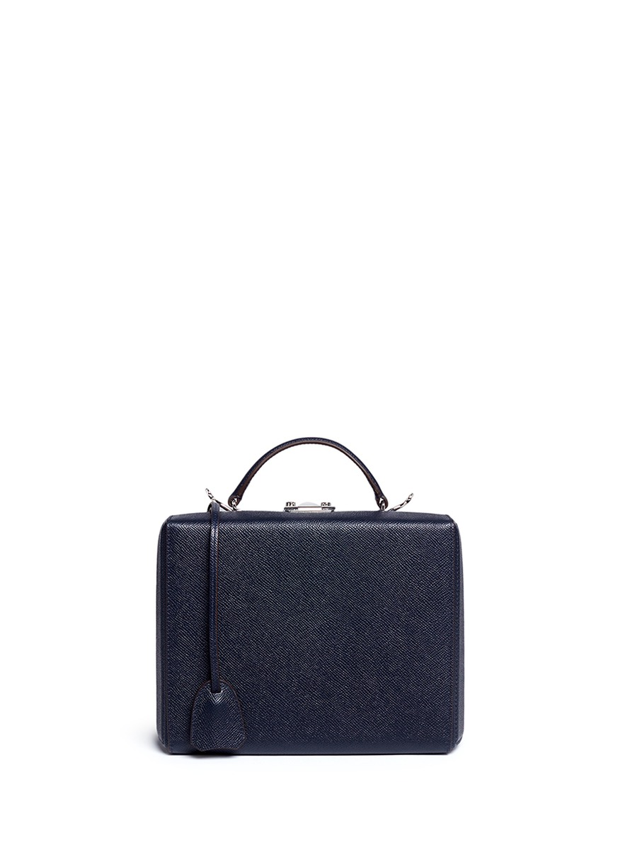 Grace Large Box saffiano leather trunk by Mark Cross