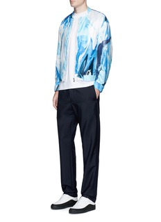 Wan Hung Wave print bomber jacket