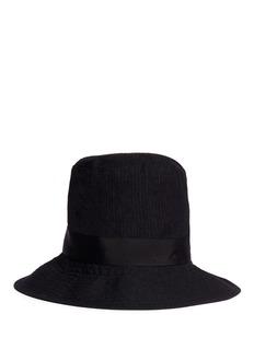 ATTACHMENTPinstripe grosgrain ribbon bow hat