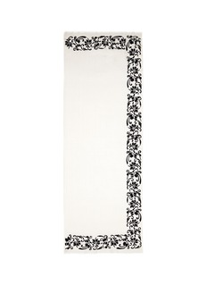 Janavi 'Black Rose' beaded embroidery cashmere scarf