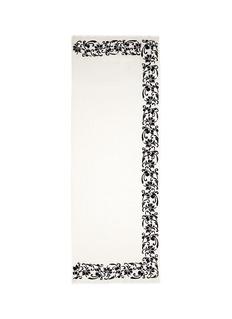 Janavi'Black Rose' beaded embroidery cashmere scarf