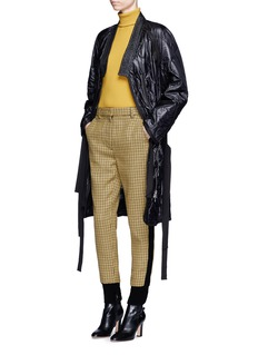 3.1 Phillip Lim Knit trim houndstooth wool jogging pants