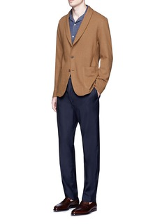 Camoshita Brushed wool jersey soft blazer
