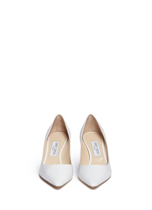 Front View - Click To Enlarge - Jimmy Choo - 'Romy' kid leather pumps