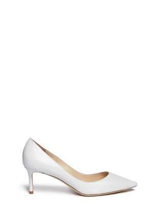 Main View - Click To Enlarge - Jimmy Choo - 'Romy' kid leather pumps