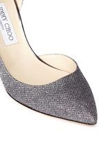 'Lucy' glitter lamé d'Orsay pumps