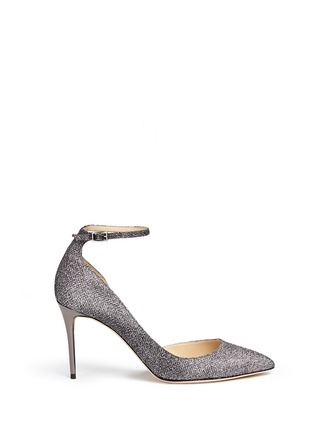 Main View - Click To Enlarge - Jimmy Choo - 'Lucy' glitter lamé d'Orsay pumps