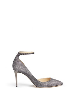 Jimmy Choo 'Lucy' glitter lamé d'Orsay pumps