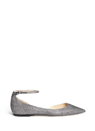 Main View - Click To Enlarge - Jimmy Choo - 'Lucy' glitter lamé d'Orsay flats
