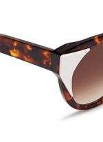 'Aristocracy' inset acetate tortoiseshell cat eye sunglasses