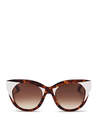 Main View - Click To Enlarge - Thierry Lasry - 'Aristocracy' inset acetate tortoiseshell cat eye sunglasses