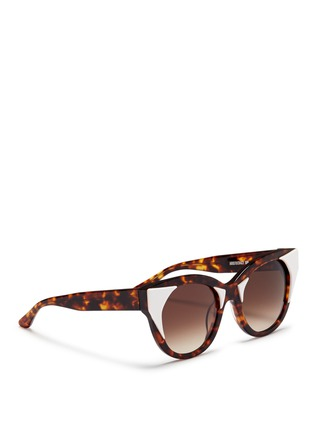 Figure View - Click To Enlarge - Thierry Lasry - 'Aristocracy' inset acetate tortoiseshell cat eye sunglasses
