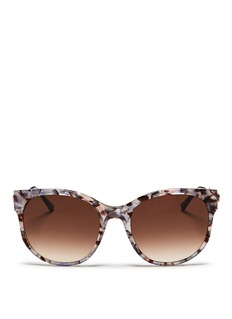 THIERRY LASRY'Axxxexxxy' pearlescent shell effect acetate cat eye sunglasses