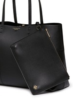 Block-T' leather tote