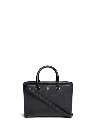 Main View - Click To Enlarge - Tory Burch - 'Robinson' small leather zip tote