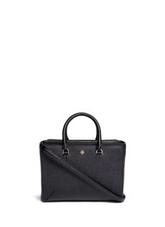 TORY BURCH 'Robinson' small leather zip tote