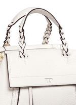 'Half-moon' small leather satchel