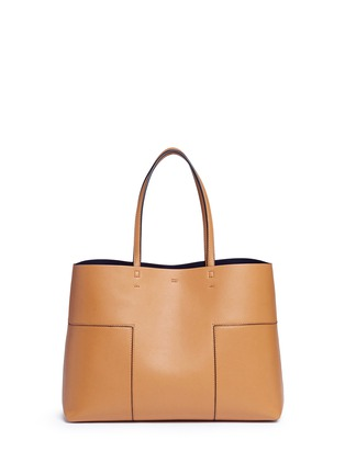 Back View - Click To Enlarge - Tory Burch - 'Block-T' leather tote