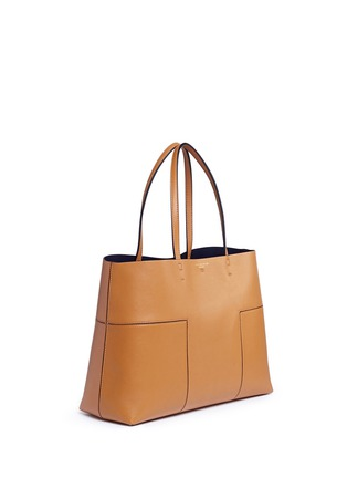 Front View - Click To Enlarge - Tory Burch - 'Block-T' leather tote