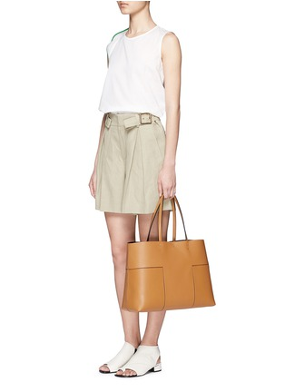 Figure View - Click To Enlarge - Tory Burch - 'Block-T' leather tote