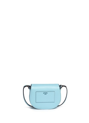 Back View - Click To Enlarge - Tory Burch - 'Mini Saddle' leather crossbody bag