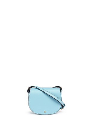 Main View - Click To Enlarge - Tory Burch - 'Mini Saddle' leather crossbody bag