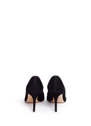 Back View - Click To Enlarge - Charlotte Olympia - 'Party Shoes 85' PVC trim suede pumps
