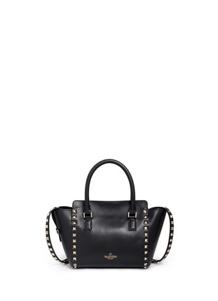 Back View - Click To Enlarge - Valentino - 'Rockstud' mini leather tote