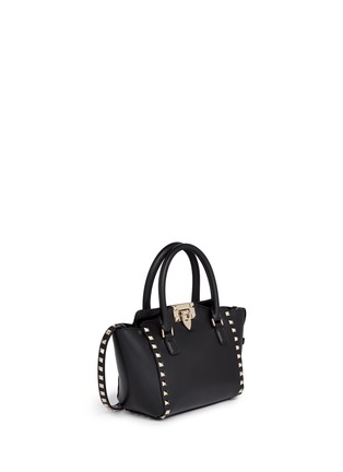 Front View - Click To Enlarge - Valentino - 'Rockstud' mini leather tote