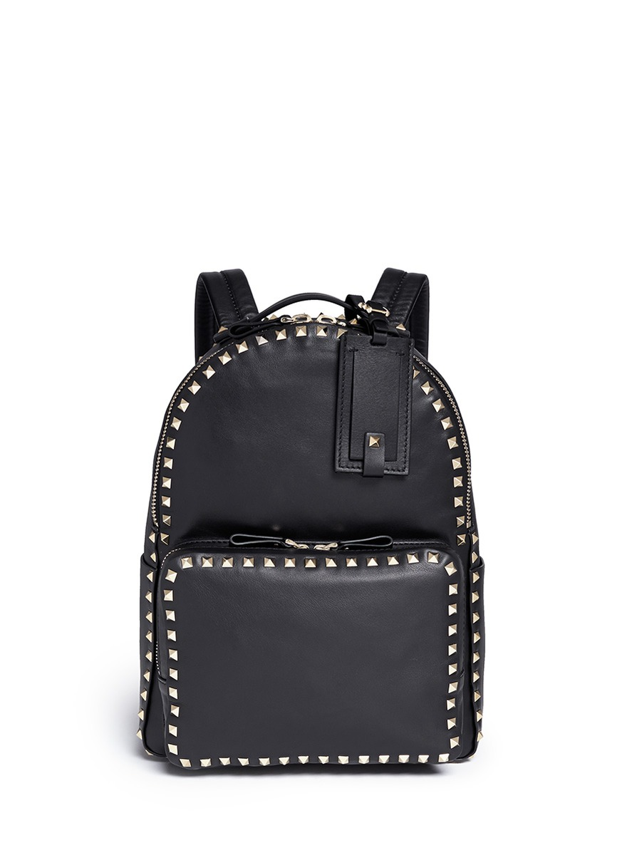 Rockstud leather backpack by Valentino