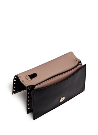 Detail View - Click To Enlarge - Valentino - 'Rockstud' small leather flap clutch