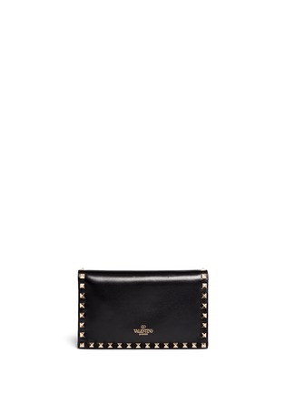 Valentino - 'Rockstud' small leather flap clutch