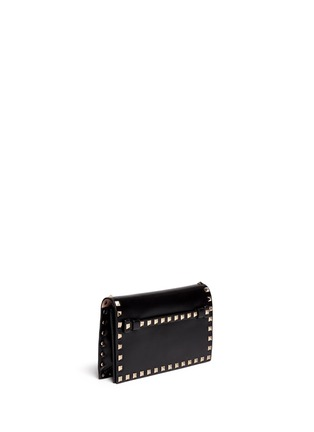Figure View - Click To Enlarge - Valentino - 'Rockstud' small leather flap clutch