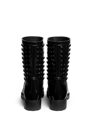 Back View - Click To Enlarge - Valentino - 'Rockstud' PVC rainboots