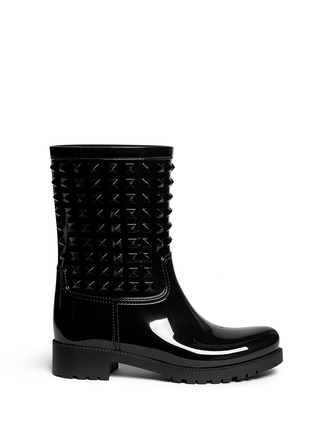 Main View - Click To Enlarge - Valentino - 'Rockstud' PVC rainboots