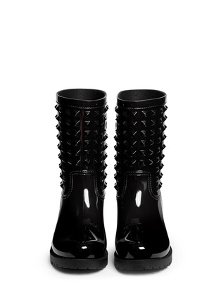 Figure View - Click To Enlarge - Valentino - 'Rockstud' PVC rainboots